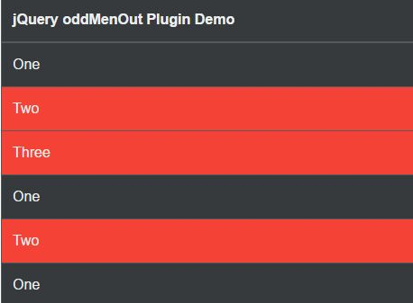 jQuery Plugin To Highlight Different Values In Table - oddMenOut