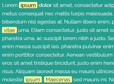 jQuery Plugin To Highlight Glossary Terms In The Document - autoabbr.js