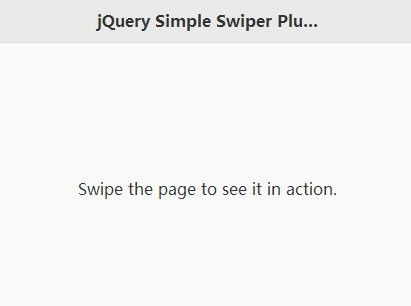 jQuery Plugin To Load New Pages When You Swipe - Simple swiper