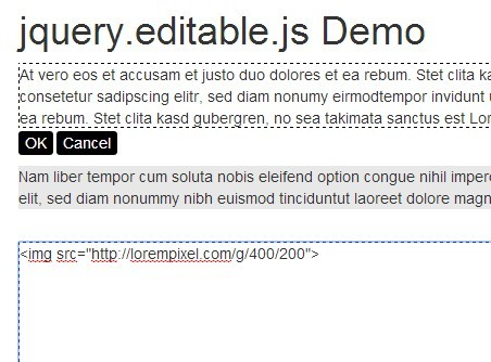 jQuery Plugin To Make Any DOM Element Editable - Editable.js