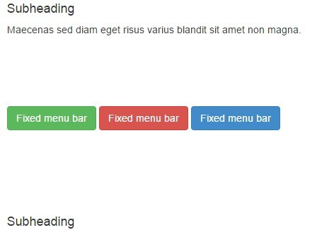 jQuery Plugin To Make Elements Fixed While Scrolling - makefixed.js