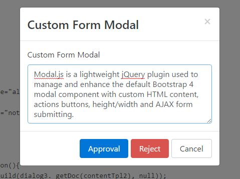 jQuery Plugin To Manage Bootstrap 4 Modal Component - Modal