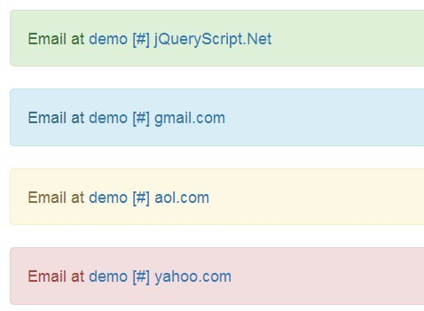 jQuery Plugin To Mask Email Addresses On Your Website - Mail Mask