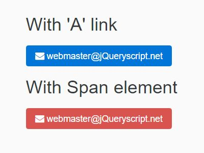 jQuery Plugin To Protect Email Addresses From Spambots - MailTo