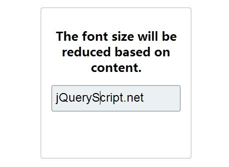 jQuery Plugin To Resize Text As You Input - Liquid Input