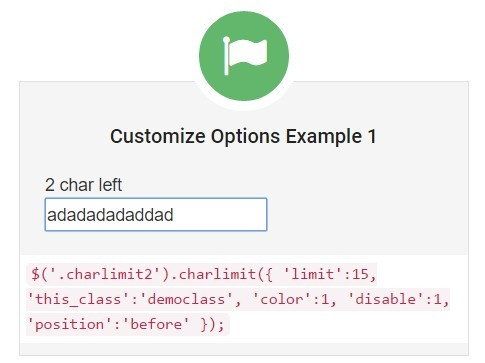 jQuery Plugin To Restrict The Number of Characters In Text Fields - CharLimit