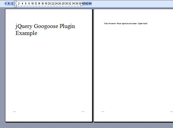 jQuery Plugin To Save Webpage As MS Word Document - Googoose