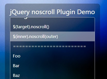 jQuery Plugin To Scroll Elements with Mouse Movement - noscroll