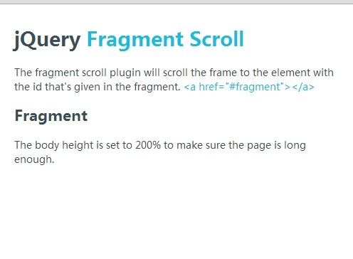 jQuery Plugin To Scroll To Specific Elements with Easing Support - fragmentScroll