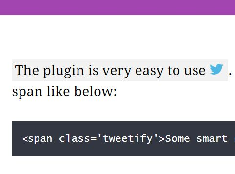 jQuery Plugin To Share Specific Text On Twitter - Tweetify