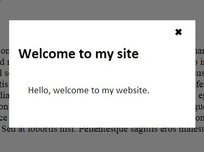 jQuery Plugin To Show A Popup Only Once Per Visitor - First Visit Popup