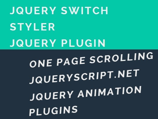 jQuery Plugin To Switch CSS Classes On Scroll - Switch Styler