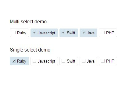 jQuery Plugin To Transform Select Options Into Labels - selectify