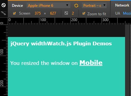 jQuery Plugin To Trigger Events or Alter Classes On Window Resize - widthWatch.js