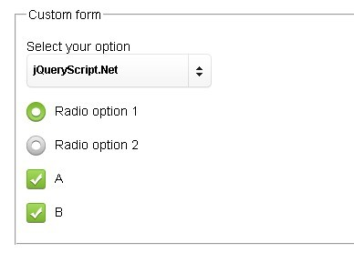 jQuery Plugin for Custom Form Elements - Custom Forms