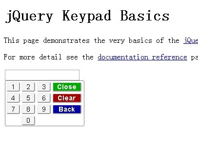 jQuery Plugin for Simple Virtual Keyboard - keypad