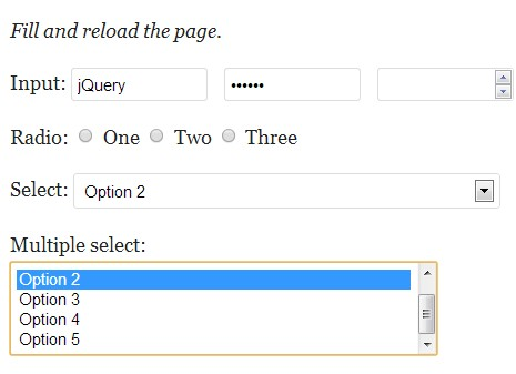 jQuery Plugin to Save Form Data In Web Storage - DataSaver