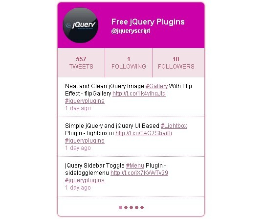 jQuery Powered Recent Tweets Widget - ClassyTwitter