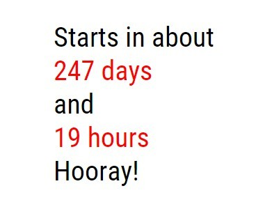 jQuery Relative Time Countdown Plugin - text-countdown.js