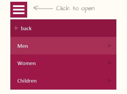 jQuery Responsive Multi-Level Menu Plugin - Dlmenu