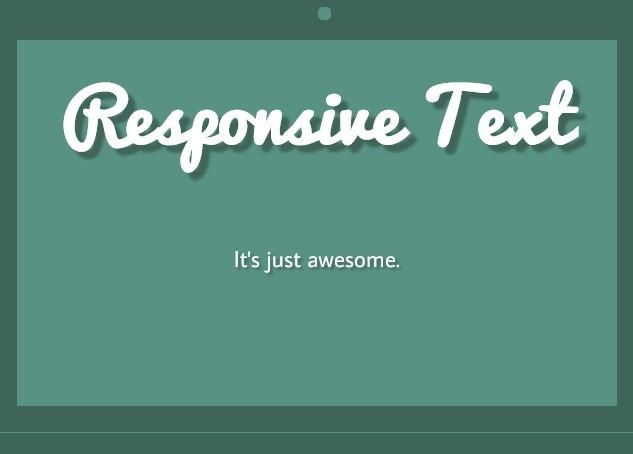 jQuery Responsive Text Plugin - Responsive Text