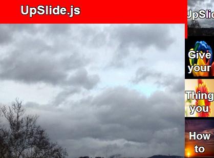 jQuery Responsive Vertical Image Slider Plugin - UpSlide js