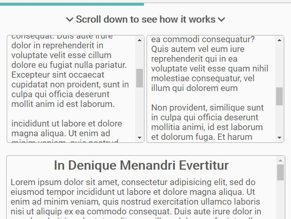 jQuery Scroll Progress Indicator For Any Containers - Prognroll