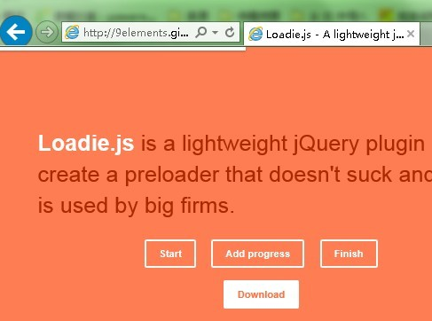 jQuery Slim Pre-Loading Bar Plugin - Loadie.js