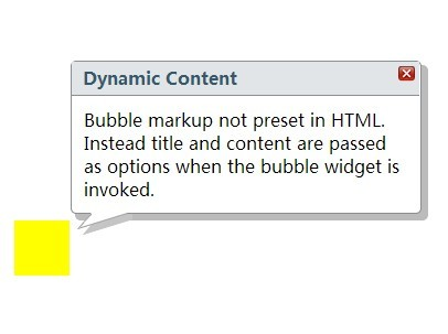 jQuery S<font color='red'>peec</font>h Bubble Style Tooltip Plugin - Bubble