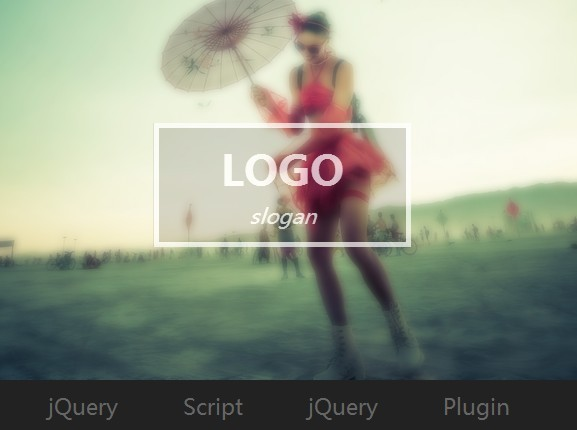 jQuery Sticky Menu with Background Parallax & Blur Effects