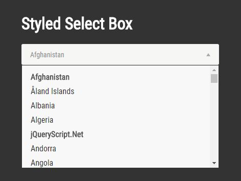 jQuery Plugin For Styled Select Box