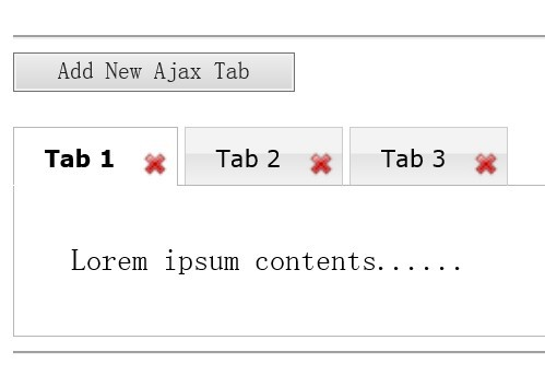 jQuery Tabbed Interface With Dynamic Closeable Tabs - Dynatabs