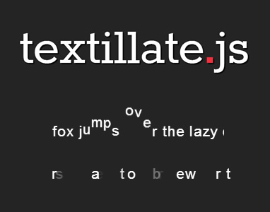 jQuery Text Animation Plugin with CSS3 - textillate