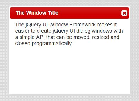 Handle & Manage jQuery UI Dialog Windows - Window.Framework
