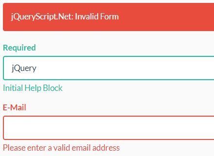 A Basic jQuery Validation Engine For Bootstrap Forms - Validator.js