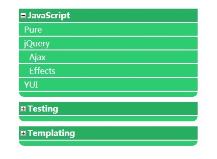 jQuery Vertical Collapsible Menu with Multiple Transition Effects