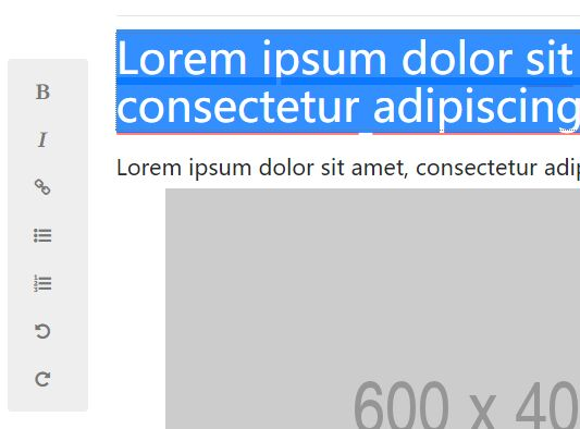 jQuery WYSIWYG Editor For Block Content - brickyeditor