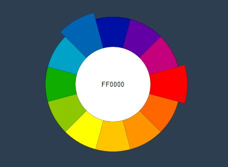 Minimal JQuery Wheel Color Picker Plugin