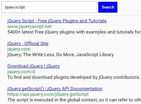 jQuery Wrapper For Bing Web Search API - bingSearch js