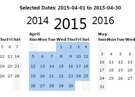 Jquery Yearly Calendar & Date Range Picker Plugin | Free Jquery
