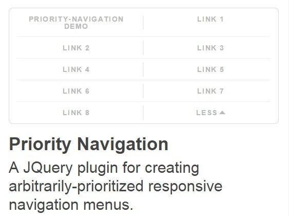jQuery Arbitrarily-prioritized Responsive Navigation - Priority Navigation