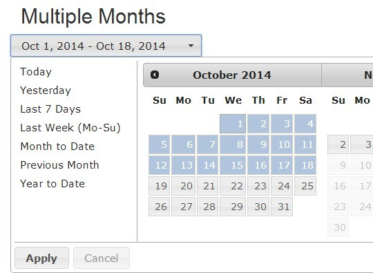 jQuery & jQuery UI Based Date Range Picker Plugin