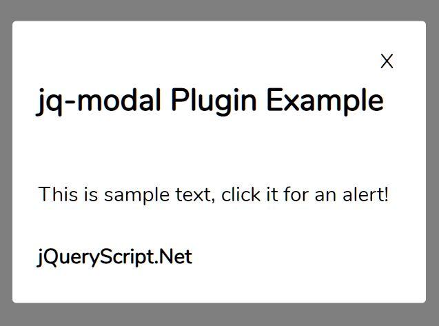 Pretty Simple Modal Popup Plugin - jq-modal