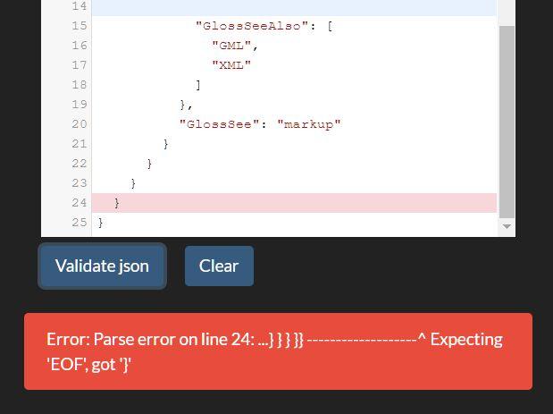 Client Side JSON Linter & Validator In JavaScript