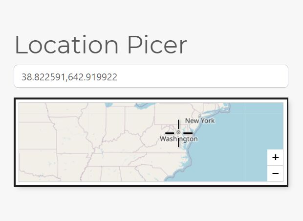 Easy Leaflet Location Picker In jQuery