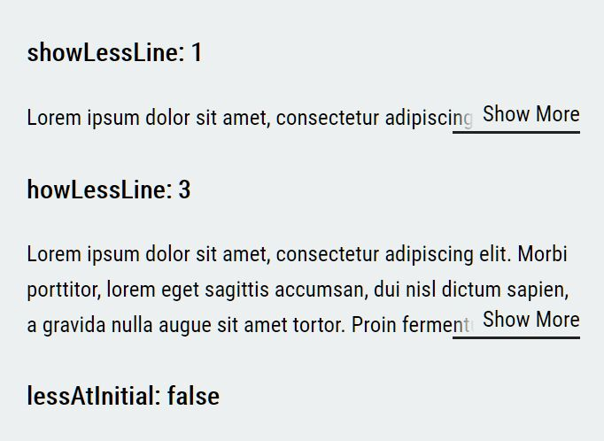 Limit Text Length And Show Read More Link - LineShowMoreLess