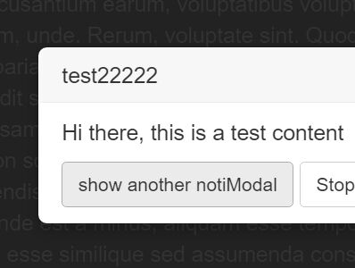 localStorage-enabled Bootstrap Notification Modal Plugin - notiModal.js