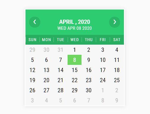 Basic Localizable Calendar In JavaScript - iCalendar