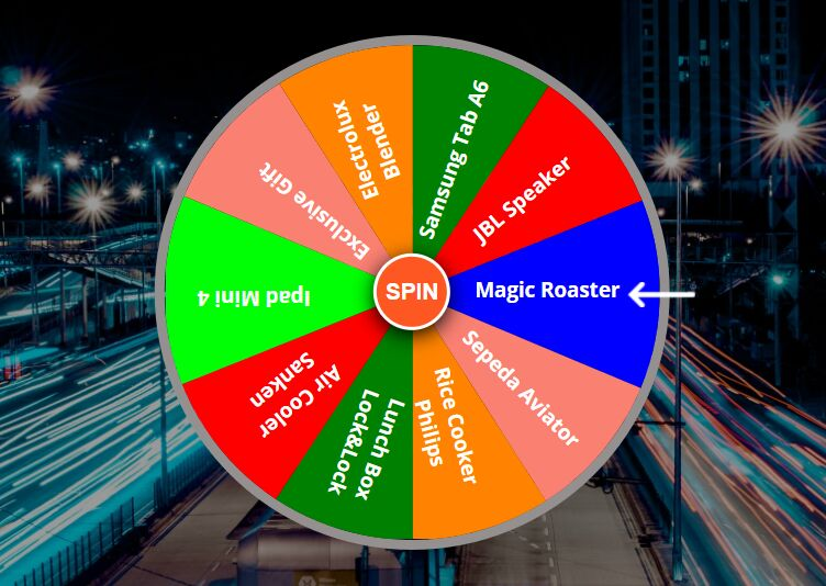 Lucky Spin (Random Wheel) In jQuery