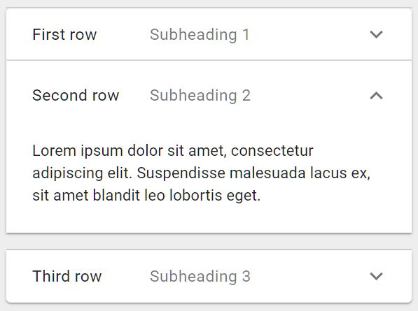 Dynamic Material Design Expansion Panel In jQuery - matd_expandlist.js
